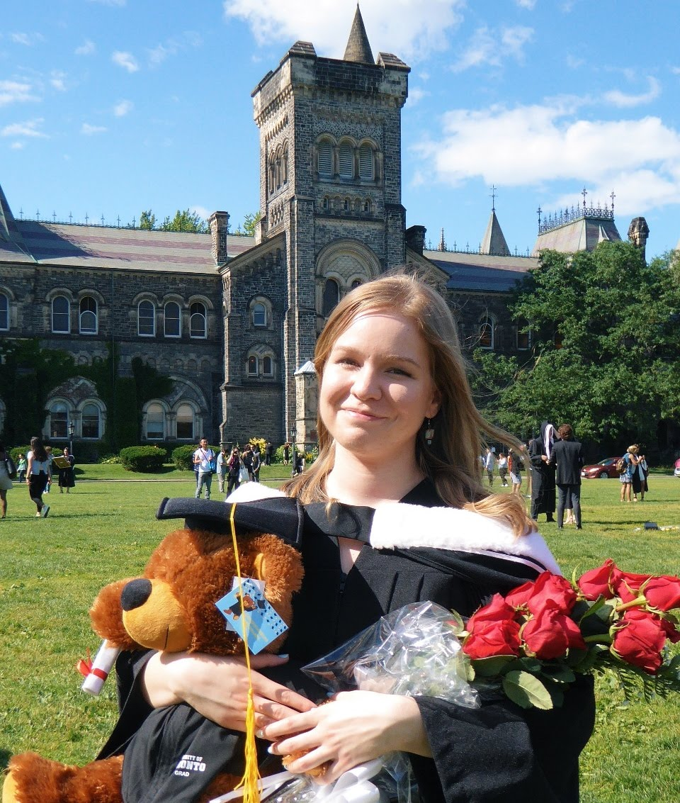 Emma at her University of Toronto graduation