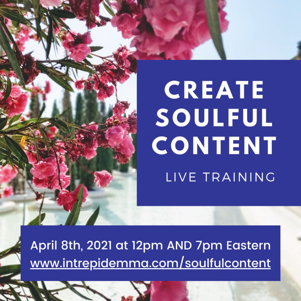Create Soulful Content