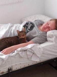 Pets improve your health - especially my friend's cat Amy!
